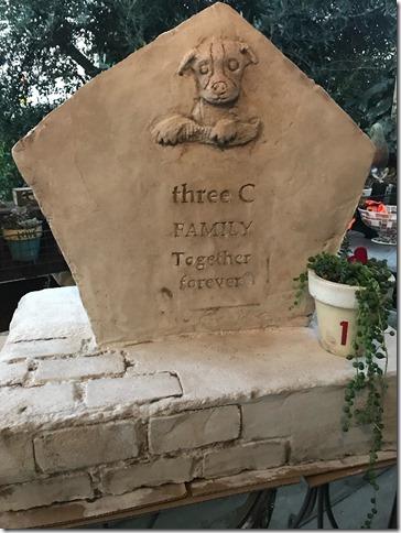 オリジナルモルタル造形墓石の写真