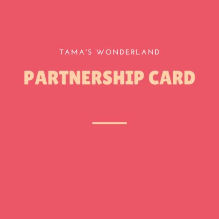 *Partnership card *プレゼント